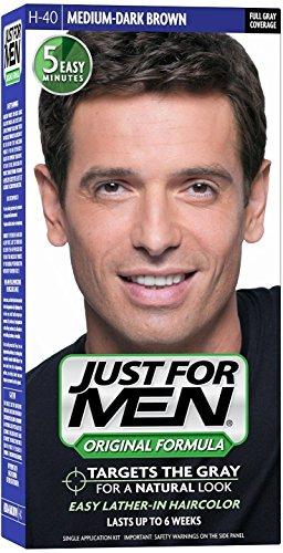 Just for Men JUSTE POUR HOMMES Couleur des cheveux H-40 moyen brun foncé 1 ch (Pack de 6)