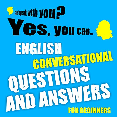 English conversational questions and answers for beginners audiobook cover art