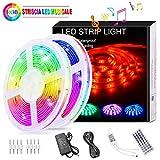 Striscia LED RGB Musicale 10M, Autoadesiva Striscia Luminosa 12V LED Strip RGB...