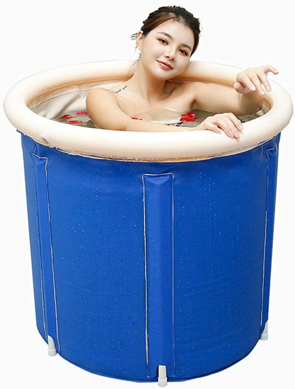 Folding tub Bathtub Portable barrel adult tub inflatable bath, thicker plastic bucket bath tub,Spa bathtub, Massage bathtub,65X65cm