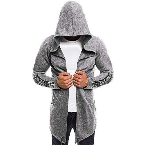 Sweatshirt Herren,SANFASHION Männer Spleißen Kapuzen Solid Trench Coat...
