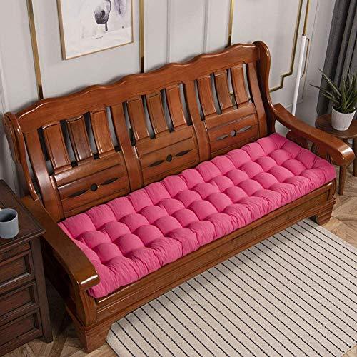 Cuscino per panca da esterno, comodo cuscino per panca da giardino traspirante, mobili da giardino, cuscino per sedia a dondolo, imbottitura in cotone perlato F 52x180 cm