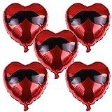 Kitchen-dream globos en forma de corazón 25 piezas 18 pulgadas corazón rojo globos de papel de aluminio románticos globos decoración para cumpleaños bodas san valentín y compromiso