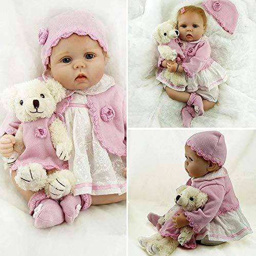 Pinky Reborn Poupées 22 Pouces 55cm Reborn Baby Poupée Réaliste en Silicone Doux Vinyle Bebe Reborn Poupées Tout-Petit Jouets