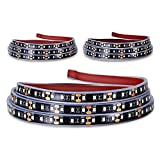 Truck Bed Light Strip, KUFUNG 3PCS 60'' 405-SMD-LED White LED Strip with On/Off Switch, Blade Fuse Splitter Extension Cable, for Cargo, Pickup, Truck, SUV, RV, Boat