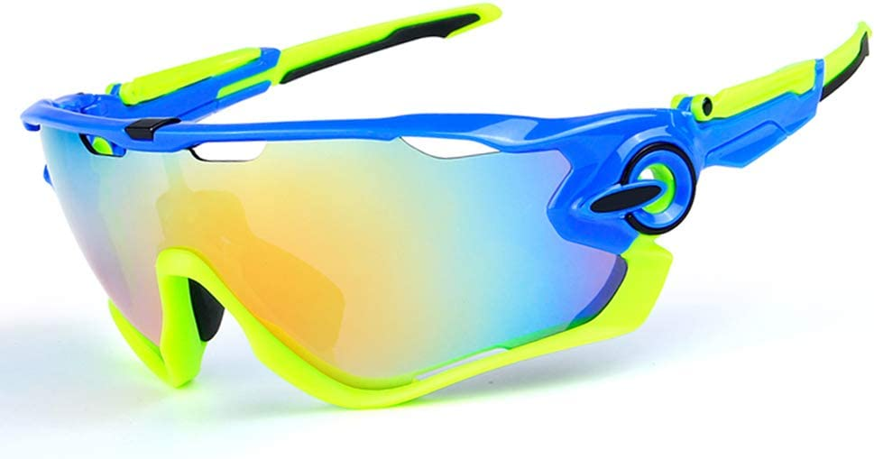 Cycling Glasses with 3 Interchangeable Lenses Anti-Glare UV400 Protection Lesrly-Cycle Polarized Sports Sunglasses for Women Mens Cycling//Fishing//Driving