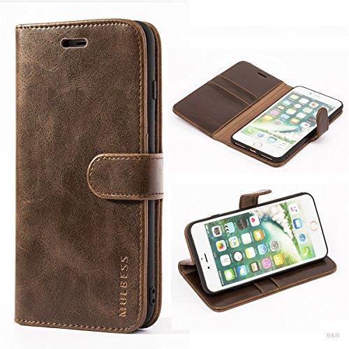 Mulbess Cover per iPhone 8 Plus, Custodia Pelle con Magnetica per iPhone 8 Plus / 7 Plus (5.5 inch) [Vinatge Case], caffè Marrone