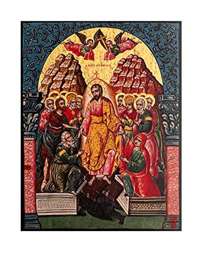 Icono dorado de La Resurrección del Señor (23 x 30 cm)