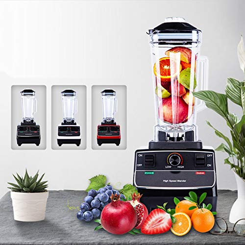 3 Days Delivery, Jug Blender 2 Liter 2200 Watt 33000 RPM High Speed Blenders High Power Blender Breakfast Energy Saving Blender Smoothie Machine (RED)