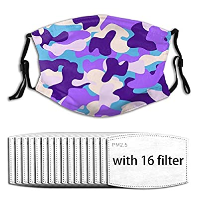 Shark Reusable Activated Carbon Filter Face Shield With 16 Filter Replaceable for Men Women
