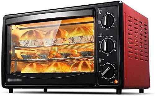 GJJSZ Toaster Pizzatisch,Multifunktions-Mini-Backofen mit 360 Grad,drehbarer Gabel,Volltemperaturfunktion,Verbrühschutz und 2000 Watt Kochleistung