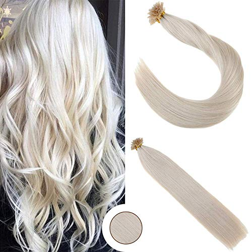 Ugeat U-tip 16-inch Brazilian Fusion Hair in Black Ombre Brown and Blonde