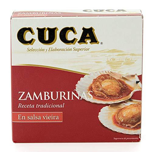 Zamburiñas en Salsa Vieira Cuca