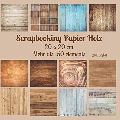 Scrapbooking Papier Holz 20 x 20 cm - Mehr als 150 elements