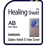 Healingshield スキンシール液晶保護フィルム Eye Protection Anti UV Blue Ray Film for Samsung Mobile Galaxy Note5 S View Cover [2pcs]