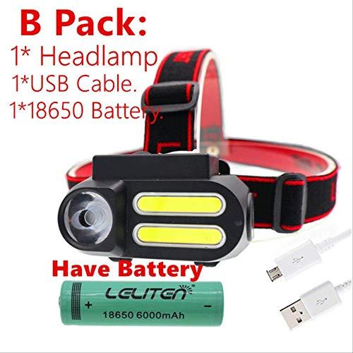 HSZH Scheinwerfer Tragbare Mini Xpe + 2 * Cob Led Scheinwerfer Arbeitslicht Wasserdicht Verwenden 18650 Batterie Für Nachtbeleuchtung Taschenlampe B Pack - Haben Batter