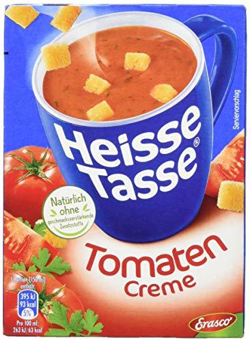 Erasco Heisse Tasse Tomaten-Creme mit Croûtons, 12er Pack (12 x 450 ml Beutel)