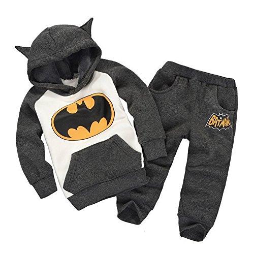 Vogholic Unisex Kinder Nette Karikatur Bat Fleece Pullover Hoodie + -Hosen B110Cm