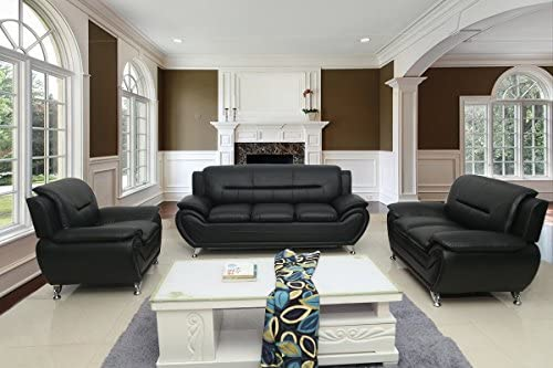 Container Furniture Direct Michael 3 Piece Living Room Set Black product image