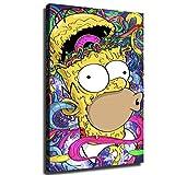 YuHui Homer Simpson Leinwand Kunstplakat und Wandkunst