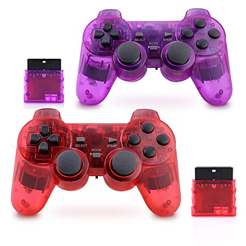 Wireless PS2 Controller, Dual Shock Gamepad Remote for Sony PS2/Playstation 2