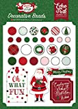 Echo Park Paper Company MB160020 Merry & Bright Decorative brads, Red/Green/Pink/Black/Gold/Mint