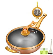 XIONGHAIZI Frying Pan Without Fumes, Non-stick Pan, Fine Iron Material, Suitable For Induction Cooker, Can Be Fried In Ste...