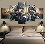 haochenli188 5 Piezas Fantasy Games Art HD Picture Escape from Tarkov Poster Wall Sticker Soldier Paintings Canvas Art for Home Decor Wall Art-Sin Marco