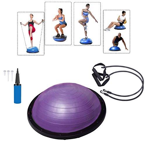 Baumarktplus Yoga Gymnastik Balance Half Ball Trainingsball Gymnastikball Pink Blau Lila (Lila)