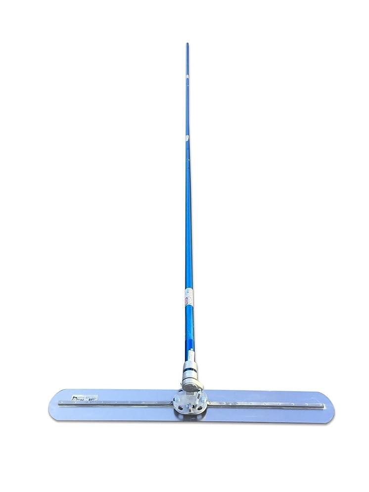 可動式水陸両用ミリメートル土間コンクリート仕上げツール 122cm トローウェル 角度調整ちょうつがい、1.8m継ぎ手付ハンドル3本セット