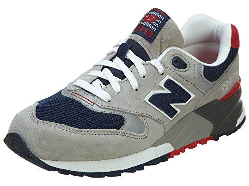 New Balance Herren ML999 Sneaker, hellgrau/Marine, 43 EU