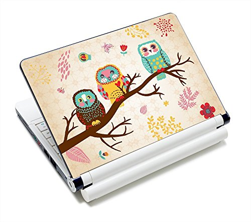 Laptop Skin Sticker Decal,12' 13' 13.3' 14' 15' 15.4' 15.6 inch Laptop Skin Sticker Cover Art Decal Protector Notebook PC (Owl)