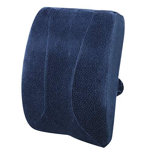 Cojín de soporte lumbar, almohada de respaldo de memoria El núcleo interno puede adaptarse bien a la curva del cuerpo humano, uso para silla de oficina Sofá Vehículo automático