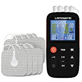 Tens Unit Muscle Stimulator, 3 in 1 Rechargeable 4 Channel TENS Unit with 20 Modes, 40 Intensity, 8 Tens Machine Pads