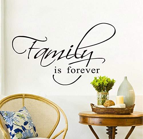 Preisvergleich Produktbild wuyyii Familie ist für immer zitieren schwarz vinyl wandaufkleber kunst wohnkultur wohnzimmer diy wandtattoos home decoration