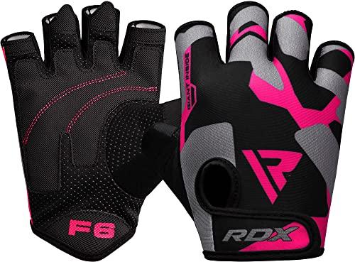 RDX Fitness Handschuhe Damen Frauen, Trainingshandschuhe Gewichtheben Krafttraining, rutschfest Gym Workout Bodybuilding Women Weight Lifting Gloves, Kraftsport Workout, Powerlifting Radfahren