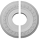 Ekena Millwork CM12JA2 Jackson Medallón de techo, 30,5 cm de diámetro x 10,9 cm de diám...