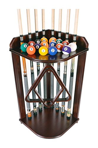 Pool Cue Rack Only- Billiard Stick Stand Holds 8 Cues & Ball...