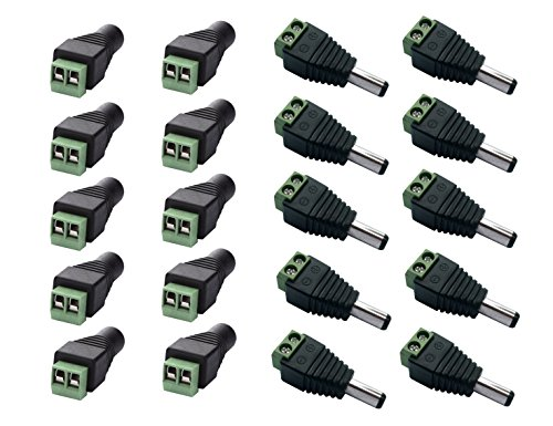 Amazon.com - 10 x Male + 10 x Female 2.1x5.5mm DC Power Cable Jack Adapter