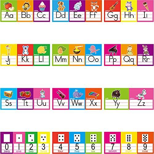 Alphabet Line Bulletin Board Set ABC Number 0-10 Wall Decorations for Pre-School Kindergarten Elementary Classroom Nursery Homeschool