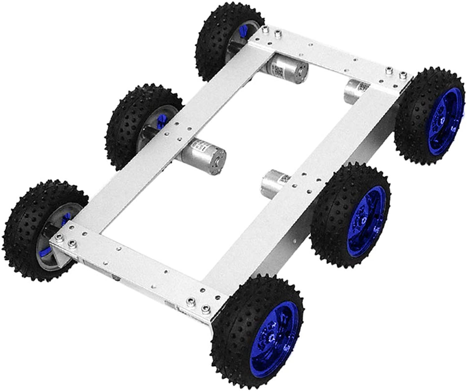 F Fityle Smart Car Platform 6WD Tracked Robot Metal Aluminium Alloy Tank Chassis with Powerful DC 12V Motor for Arduino DIY