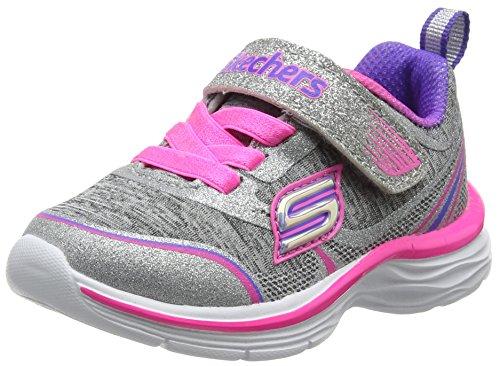 Skechers Dream N'dash-Peppy Prance, Formatori Bambina, Grigio (Grey/Pink), 23 EU