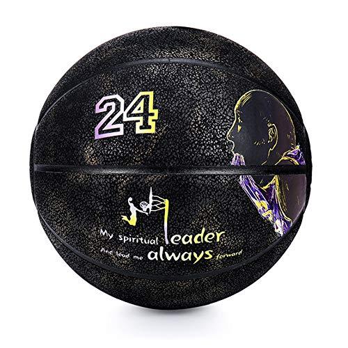 Para Kobe LAKERS Baloncesto resistente al desgaste y antideslizante interior y exterior flexible de la NBA, regalo de cumpleaños para niño
