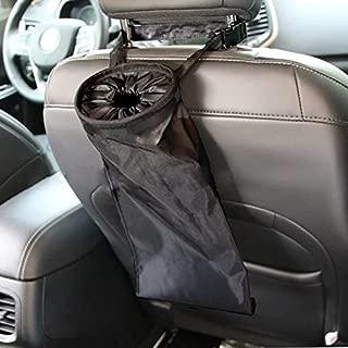 IPELY Car Vehicle Back Seat Headrest Litter Trash Garbage Bag (Black)