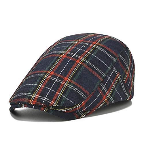 Adantico Uomo Cotone Cappello Falt cap (Nero)