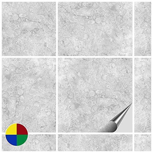 FoLIESEN Fliesenaufkleber 15x15 cm - Fliesen-Folie Bad - Klebefolie Küche - 80 Klebefliesen, Dekor Gorreto