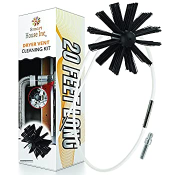 Dryer Vent Cleaner Kit - 20-Feet  Innovative Lint Remover Reusable Strong Nylon  Flexible Lint Brush with Drill Attachment for Faster Cleaning