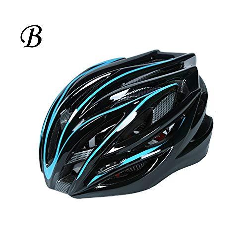 GuoYq Casco da Equitazione Integrato PC + EPS, Casco per Mountain Bike, Casco da Esterno per Mountain Bike per Scooter, Adatto per Circonferenza della Testa di 54-62 cm