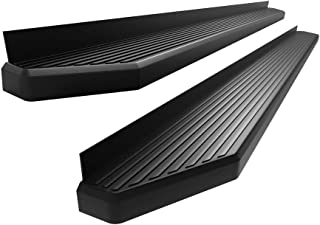 APS iBoard 6-inch Aluminum (Black Powder Coated Flat Style) Running Boards Nerf Bars Side Steps Step Rails Compatible with 2015-2020 Chevy Colorado GMC Canyon Crew Cab Pickup 4-Door