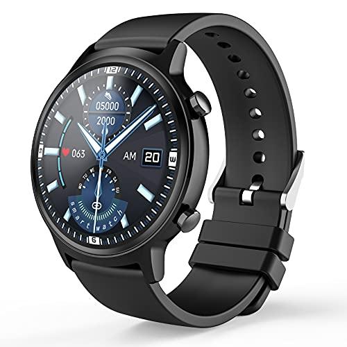 Aney Well Reloj Inteligente Hombre, Smartwatch Juvenil ,Reloj Deportivo,Monitor de Actividad Física con Pulsómetro, Podómetro, Monitor de Sueño, Cronómetro, Impermeable IP68 para Android iOS